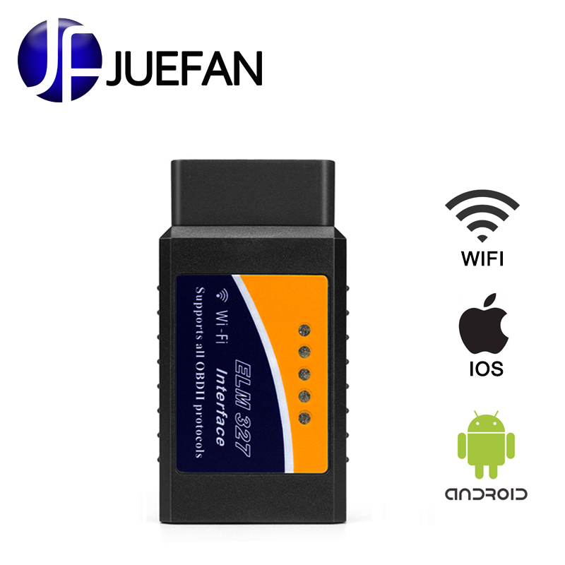 Best ELM327 Wifi easydiag Auto OBD2 Diagnostic Tool ELM 327 WIFI OBDII ELM327 Scanner V 2.1 Wireless For Both Android / IOS