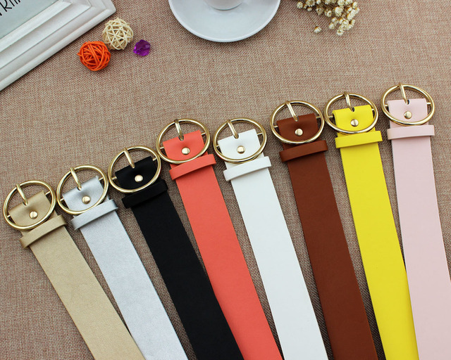PU Leather Belts With Fancy Buckle For Womens