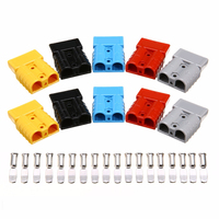 5 Pair Plastic Battery Connector Quick Connect Ends 8 AWG 50 Amp 600V Terminal Pins For