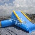 Tobogán inflable utilizado para parque acuático inflable, diapositiva inflable flotante escalada