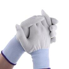 1 пара полезный популярный и практичный белый нейлон обертывание пинг перчатки Применение Инструменты для автомобиля обертывание Виниловая наклейка садовые перчатки