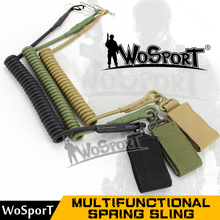 WOSPORT Outdoor Camping Climbing Backpack Sling Hiking Hunting Tactical belt Bag Multifunctional Spring rope