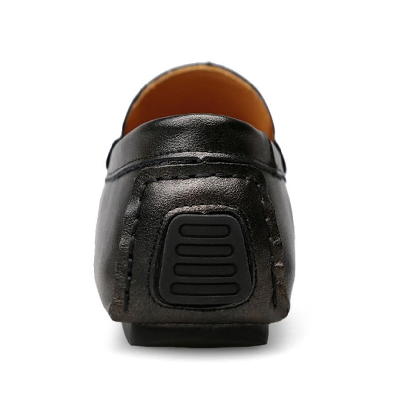 Véritable Mâle Chaussures Sur Mocassins D'affaires Hommes Glissent gold Des De Cuir Blue D50 Gray En Geunine Appartements Formelles silver 5AWOOq