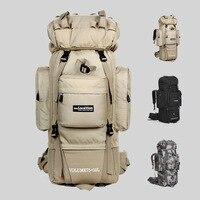 80 L Metal U shaped Bracket Backpack Outdoor Bag Military Bag Tactical Bag Hiking Camping Waterproof Wear resisting Nylon Bag