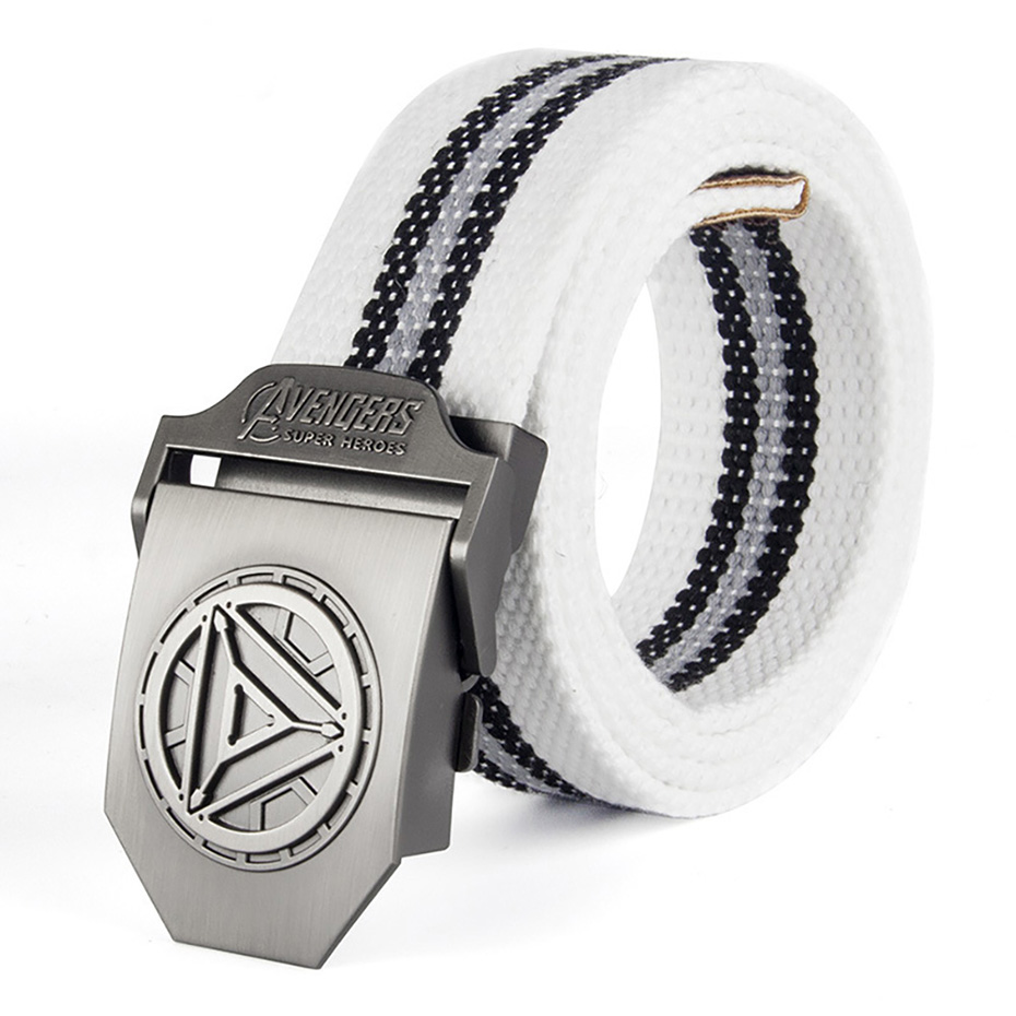 Male Belt Iron Man Buckle High Quality Designer Brand Belt For Men Casual Style Tactical Belt For Jeans 120cm