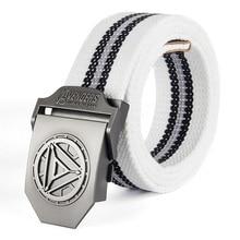 купить Male Belt Iron Man Buckle High Quality Designer Brand Belt For Men Casual Style Tactical Belt For Jeans 120cm по цене 378.14 рублей