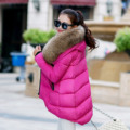 2016 Winter Women's Coat Big Fur Collar Women's Coat Irregular Loose Feather Padded Winter Down Coat Winter Coat Women