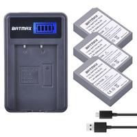 3Pc PS-bls5 BLS-5 BLS5 5 BLS-50 Bateria + Carregador USB LCD para Olympus BLS OM-D E-M10  e-M10 III  E-PL2  E-PL5  E-PL6  E-PL8  E-PM2