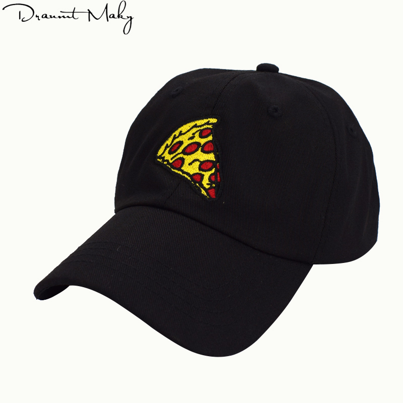 Fashion Pizza embroidery Baseball Cap Trucker Hat For Women Men Unisex Adjustable Size dad Snapback cap hats New wholesale 2018 brand bonnet beanies knitted winter hat caps skullies winter hats for women men beanie warm baggy cap wool gorros touca hat 2017
