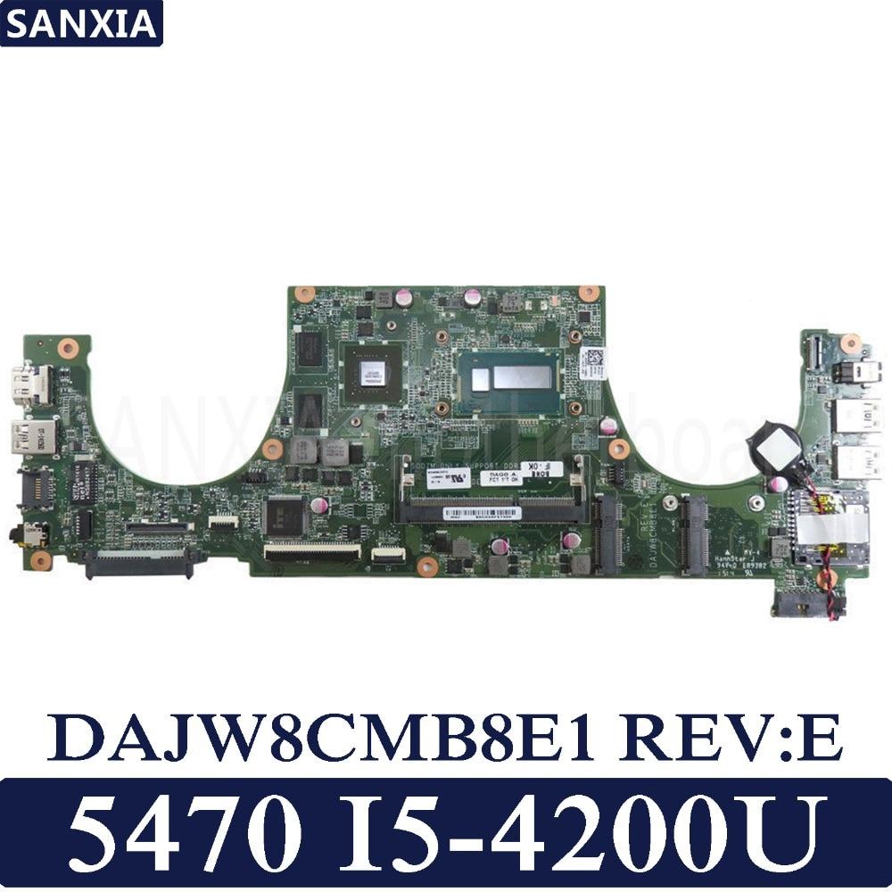 KEFU DAJW8CMB8E1 Laptop motherboard for Dell Vostro 5470 original mainboard I5 4200U GT740M