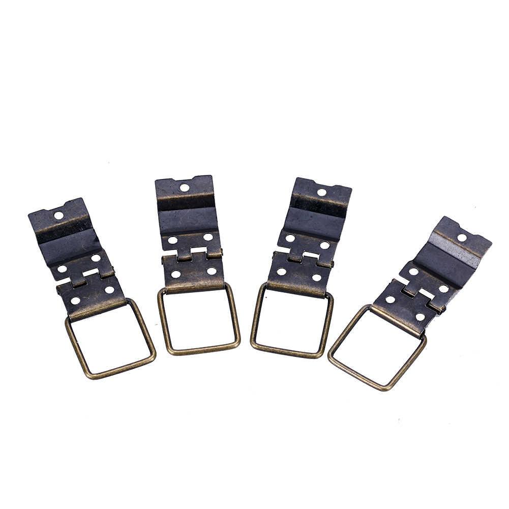 Mobili maniglie in bronzo traballante di goccia anelli drwer cabinet tira manopole aereo ottone antico comò maniglia della porta 10 Cerniere + 50 viti