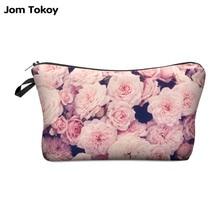 Jom Tokoy Fashion Brand Cosmetic Bags 2016 New Fashion 3D Printing Women Travel Makeup Case 711