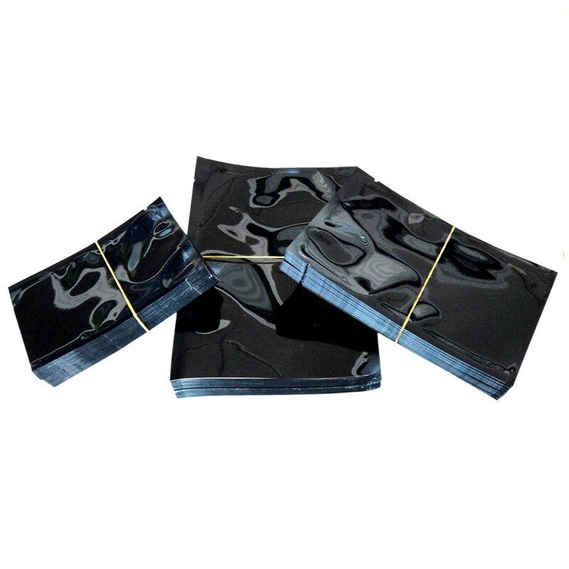 """100 шт 9x13 см(3,"""" x 5,1""""), красочная термопечать, предотвращающая появление запаха мешки из фольги мешки для хранения продуктов - Цвет: Black"""