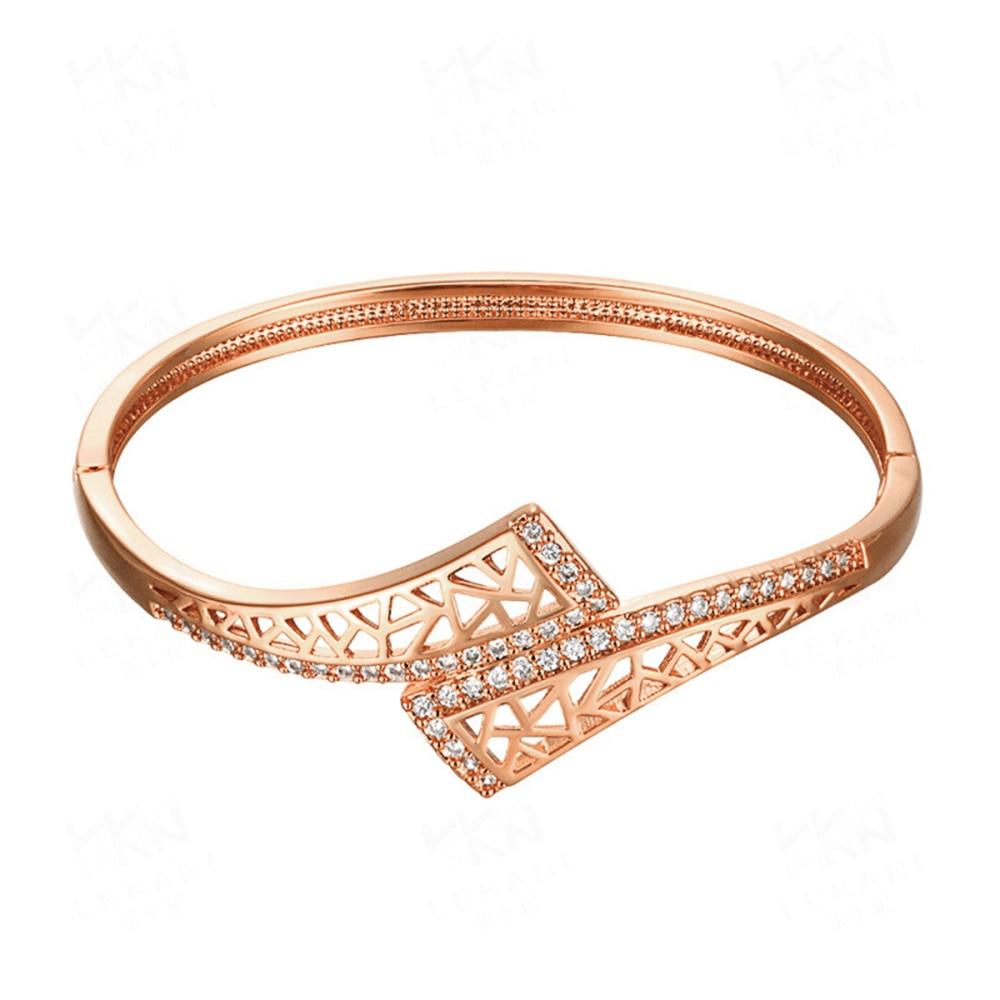 18K Yellow Gold Openwork Zircon Bracelet peridot Gemstone Jewelry Trendy Style Bangles Geometric Type Fine Jewelry jade bracelet
