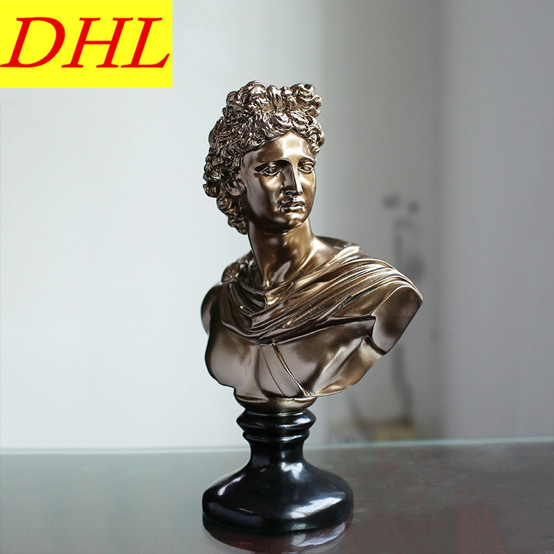 Retro David Bust Figure Michelangelo Buonarroti Statue Gypsum Resin Craftwork Desktop Home Decorations Collectible L2175 115cm retro greek mythology venus bust figure aphrodite venus statue gypsum resin craftwork desktop home decorations l2190