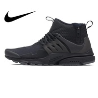 Original NIKE AIR PRESTO MID UTILITY Men Running Shoes Sneakers High cut Breathable Outdoor Sports Designer Athletics Official