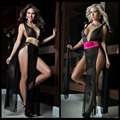 2017 New hot sell well sexy lingerie hot Evening dress 2 color Goddess  V neck open bra erotic lingerie lenceria underwear