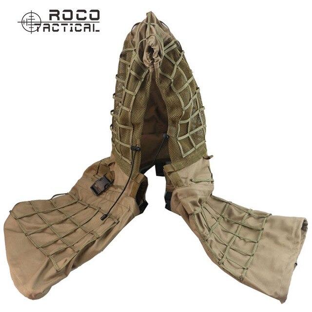 ROCOTACTICAL Военный Снайпер Ghillie Костюм Фонд Легкий Ghillie Капот Камуфляж Военный Снайпер Airsoft Ghillie Куртка