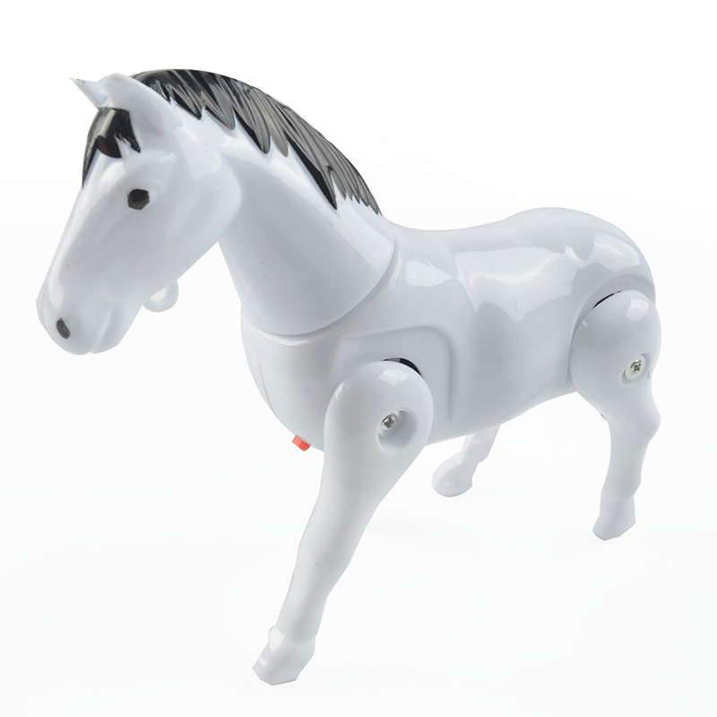 1Pcs Children Toy Electric Horse Pony Rotating Around The Pile Developmental Gift White Red Colors Electronic Toy Kids