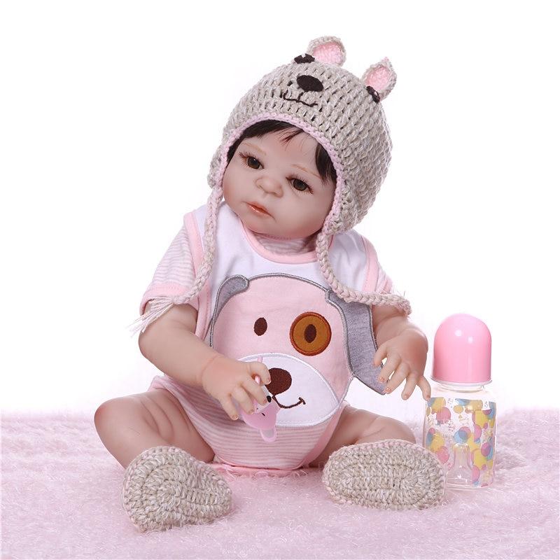 NPK 19 ''アライブ生まれ変わっ人形 Boneca フルシリコーンビニール新生児人形リアルなリボーンドールピンク服子供遊び  グループ上の おもちゃ & ホビー からの 人形 の中 3