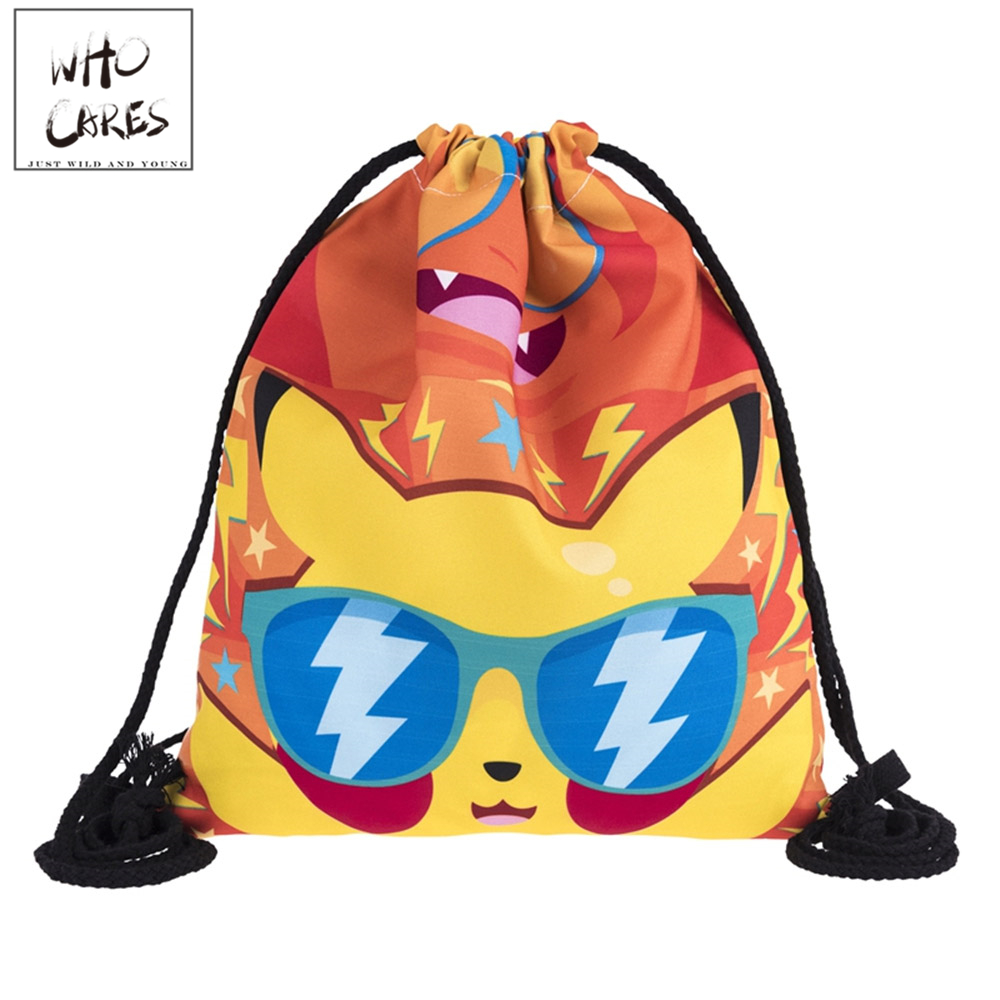 Various Style Cute Cartoon Printing Leather Bottom Backpack Men Travel Leisure Mochila Feminina Women 2018 Brand Drawstring BagVarious Style Cute Cartoon Printing Leather Bottom Backpack Men Travel Leisure Mochila Feminina Women 2018 Brand Drawstring Bag