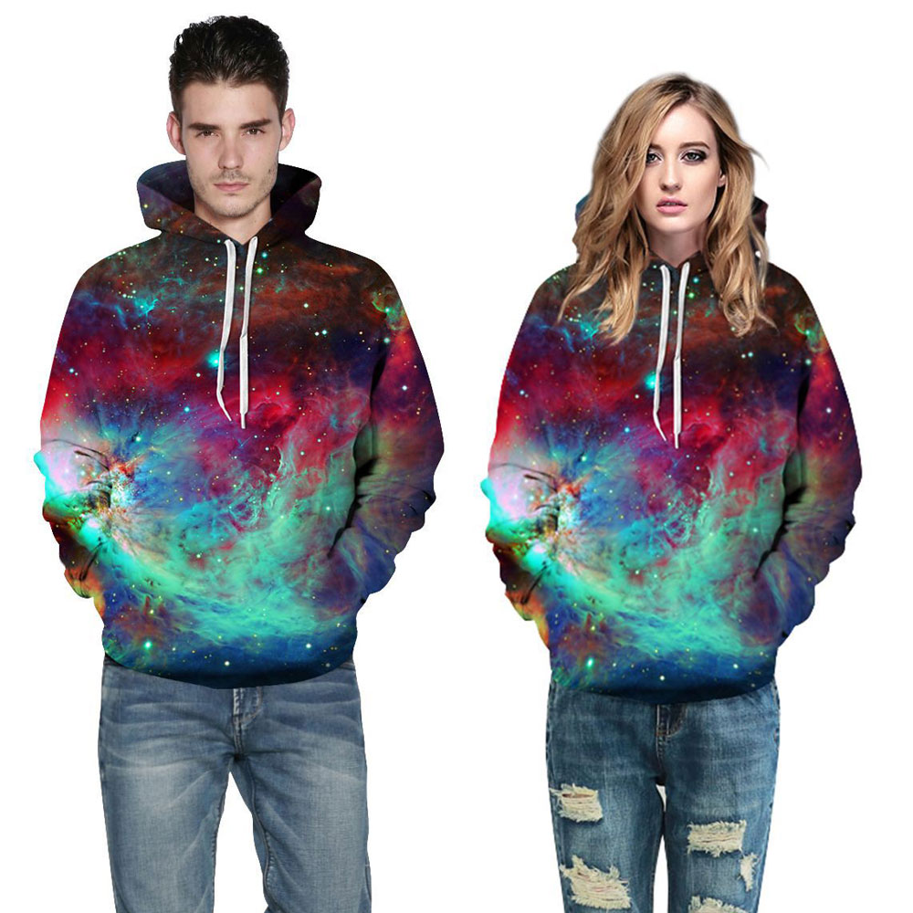 JESSINGSHOW New 3D Printed Colorful Galaxy Hoodies Sweatshirt Men Women Unisex Lover Cusual Pullover Tracksuit sudaderas mujer