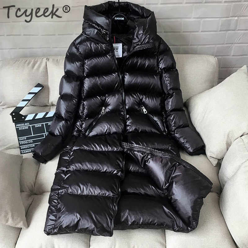 85f0c5592 Tcyeek Winter Jacket Women Down Coat Female Thick 90% White Duck ...