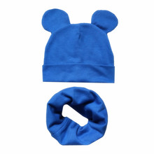 f3bdf30cf02 Boys Girls Cotton Solid Cap Soft Warm Cartoon Children Hat Cute Ears Design Spring  Autumn Baby