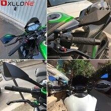 Evrensel motosiklet ayna görünüm yan arka ayna 22 \ 24mm gidon Kawasaki Z800 Z750 Z750R Z 800 750 750R ER 6N Versys650