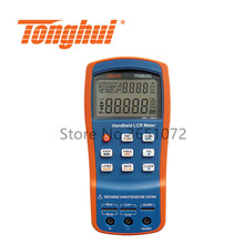 TH2822C RLC Meter Handheld LCR Meter with Test Frequency 100Hz, 120Hz,1kHz,10kHz, 100kHz