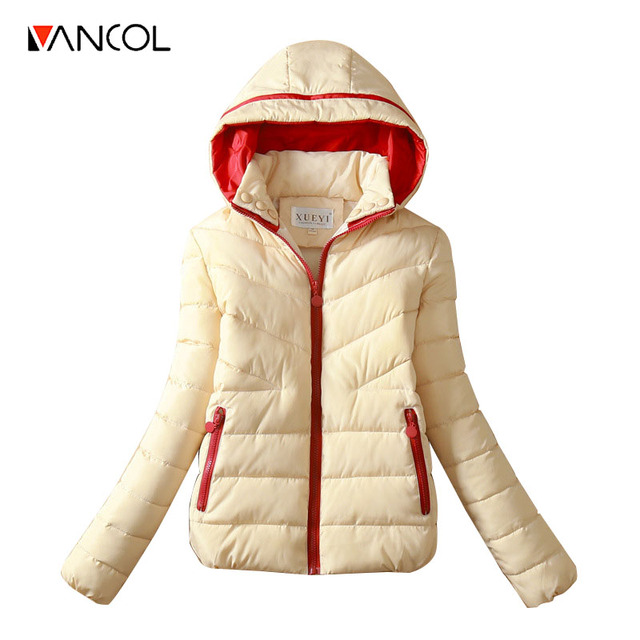 Hoody Women Coat Warm Coats Winter Zipper Thick Slim Short Outwears Wadded Jacket Women Parka Mujer camperas de pluma mujer 2016