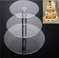 3 layer Acrylic Cake Stand Round Cup Cupcake Holder Wedding Birthday Party Decorations Events Dessert Sugarcrafts Display Stands