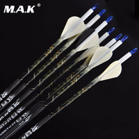 6/12pcs Pure Carbon Arrow Archery Arrow 30 Inches Spine 400 Fit for Compound Bow Arrow 7.5mm Carbon Shaft Free Shipping