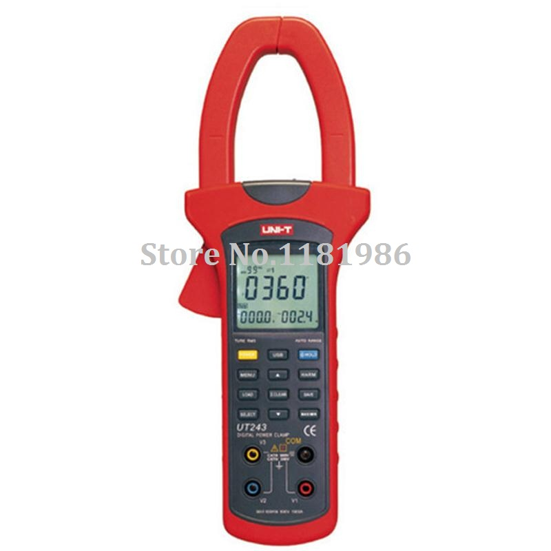 UNI-T UT243 Three Phase True RMS Harmonic Analysis Power Clamp Meter Ampere Multimeter Digital