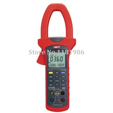 UNI-T UT243 Three Phase True RMS Harmonic Analysis Power Clamp Meter Clamp Ampere Multimeter Digital Power Meter uni t ut267b intelligent three clamp phase voltammeter phase sequence measurement data storage detection rate