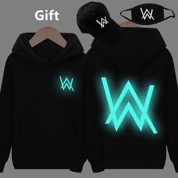 La máscara y la tapa como regalos Alan Walker caliente sudaderas con capucha  luminoso brillante oscuro sudadera hip hop chaqueta con capucha abrigo ... 76dcc42debe