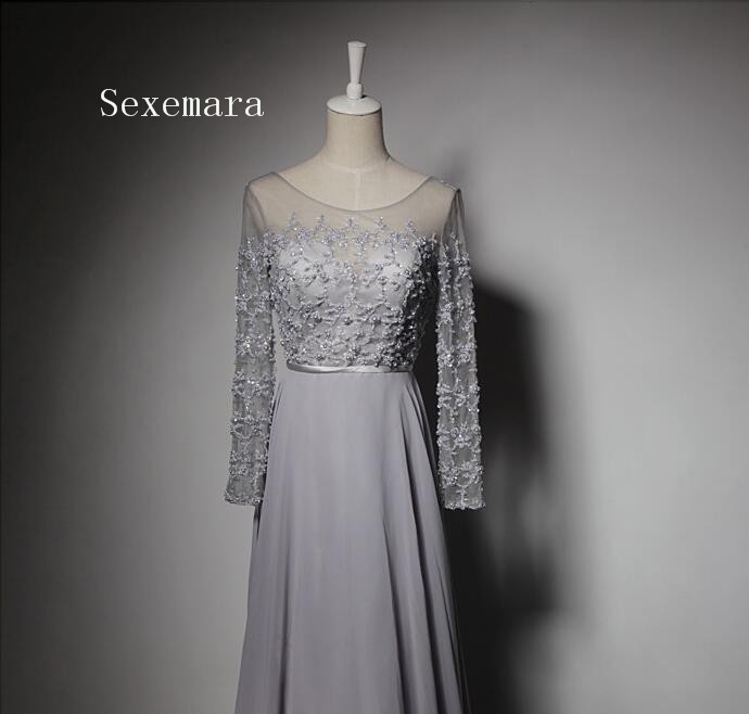 free shipping 2018 vestido de noiva custommade long sexy backless lace beading long sleeves Mother of the Bride Dresses in Mother of the Bride Dresses from Weddings Events