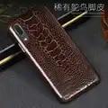 Funda de cuero de lujo para Huawei P10 P20 Lite P10 P20 P30 Pro funda Piel de pie de avestruz Natural para Mate 10 lite P smart case