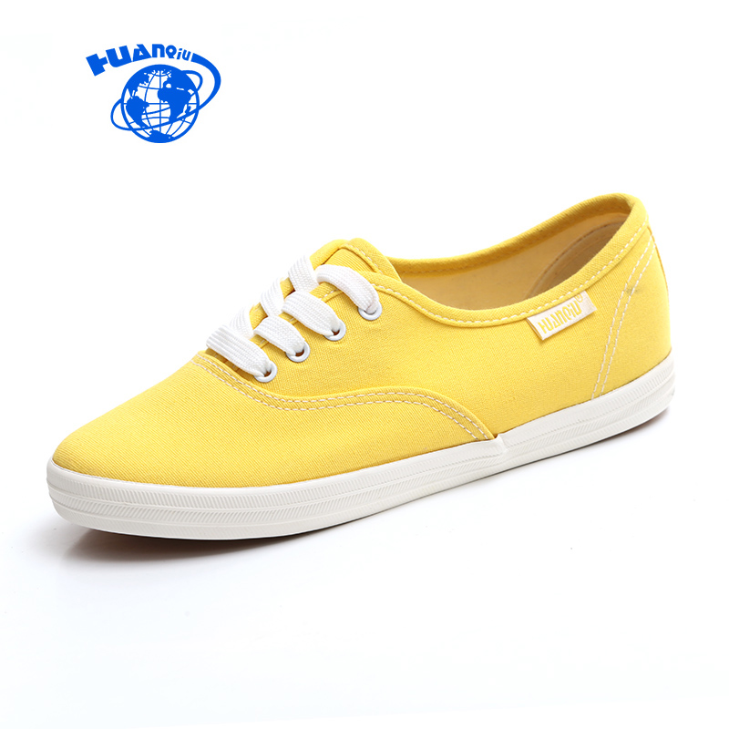 HUANQIU White Women Vulcanize Canvas Shoes Low Breathable Female Solid Color Flat Shoes Casual Candy Colors Leisure Cloth Shoes de la chance women vulcanize shoes platform breathable canvas shoes woman wedge sneakers casual fashion candy color students