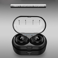лучшая цена Bluetooth 5.0 Earphone TWS Earbuds Wireless Earphones Stereo Headset with Mic and Charging Box for iphone android earphone