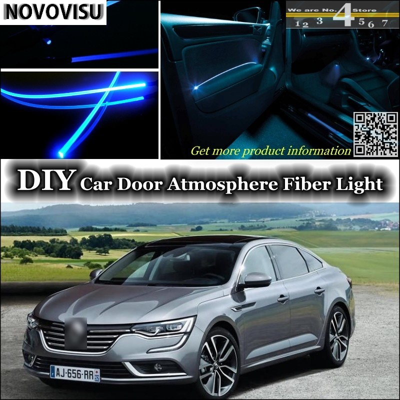 NOVOVISU For Renault Talisman / Samsung SM7 Interior Ambient Light Atmosphere Fiber Optic Band Lights Door Panel Illumination