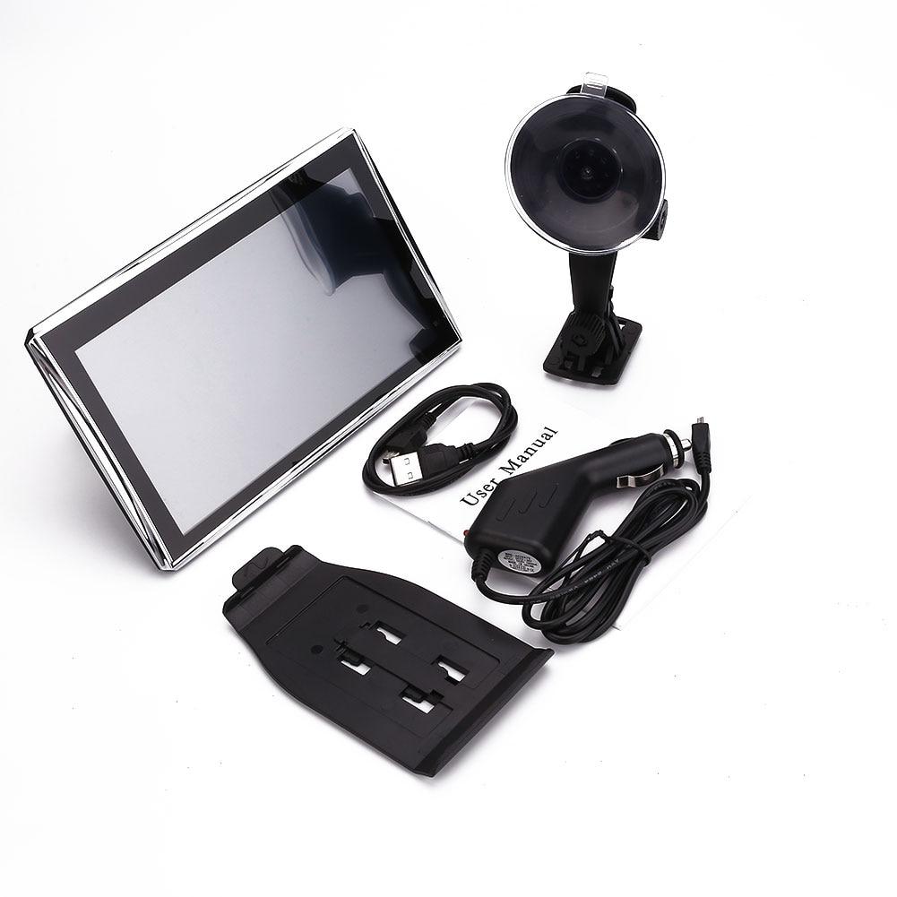 Car GPS 7 HD LCD Touch Screen Free EU Map Navigator NAV FM MP3 Video Play
