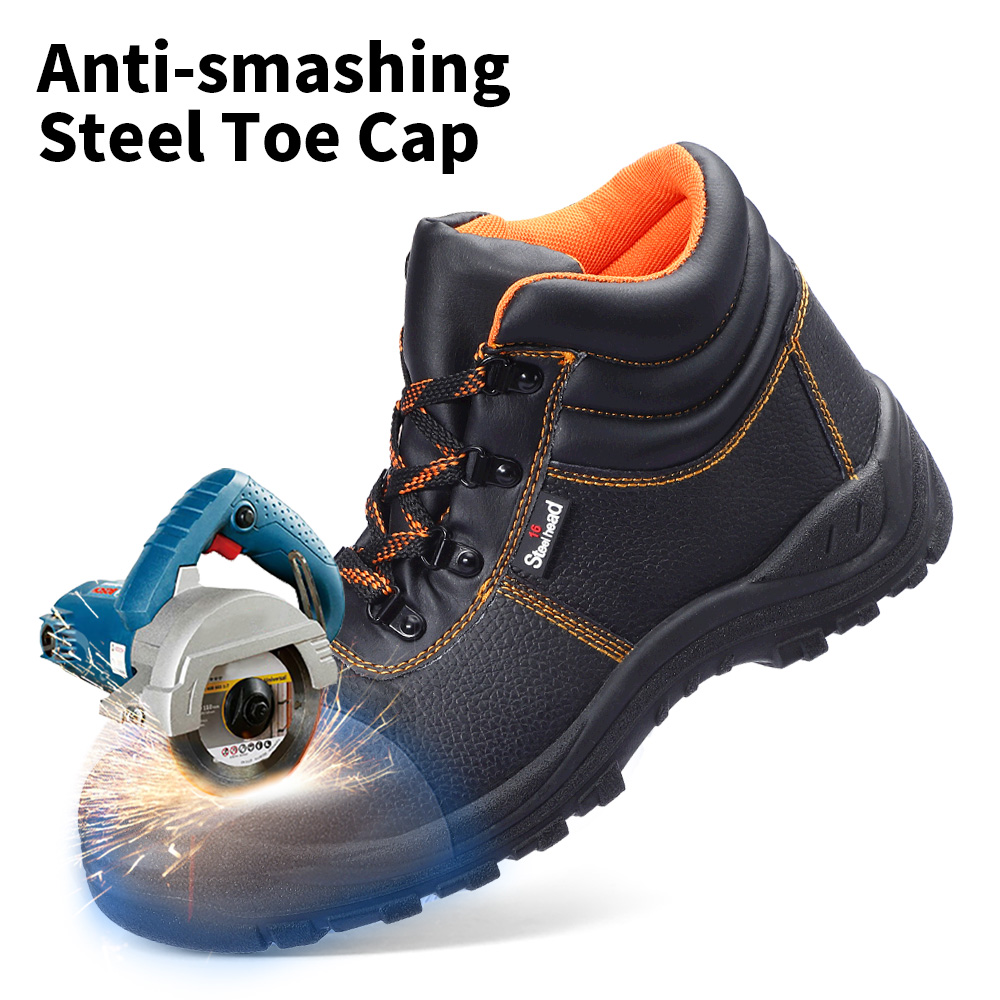 Men's Safety Shoes Steel Toe Working Safety Shoes For Men Fashion Hiking Sneaker Shock Proof Puncture Proof Non-Slip Footwear 2