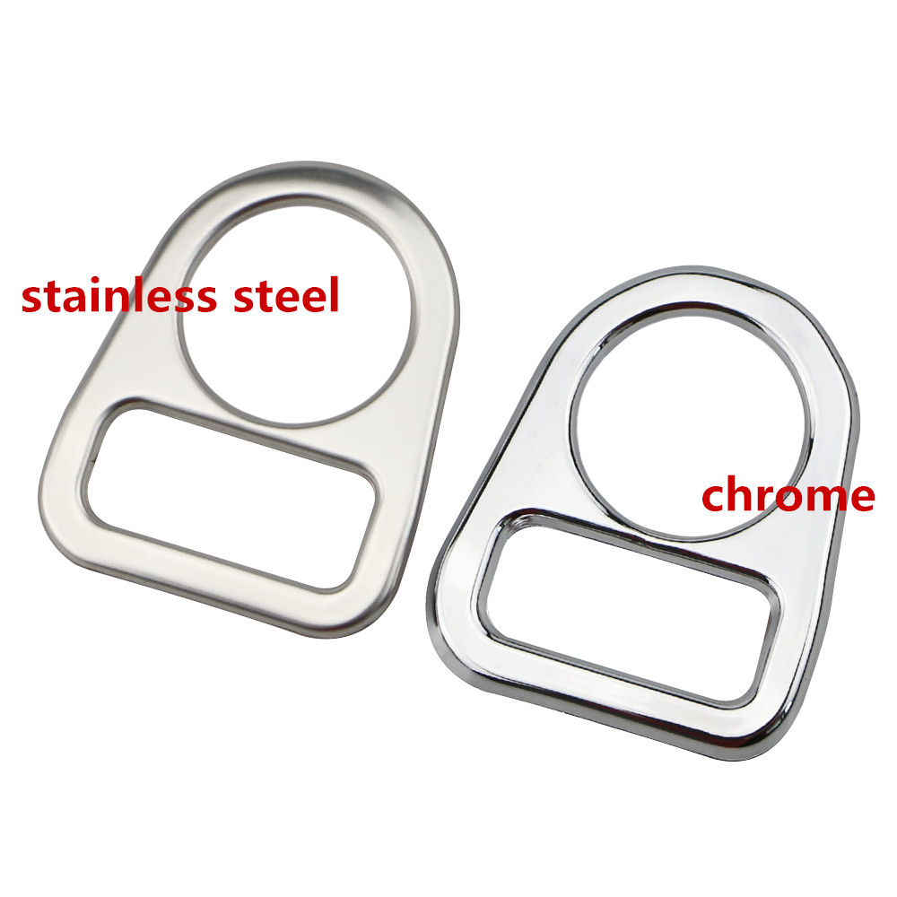 Stainless Steel / Chrome Rearview Mirror Button Cover Trim Sticker For Nissan X-TRAIL Xtrail Rogue T32 Qashqai J11 Interior