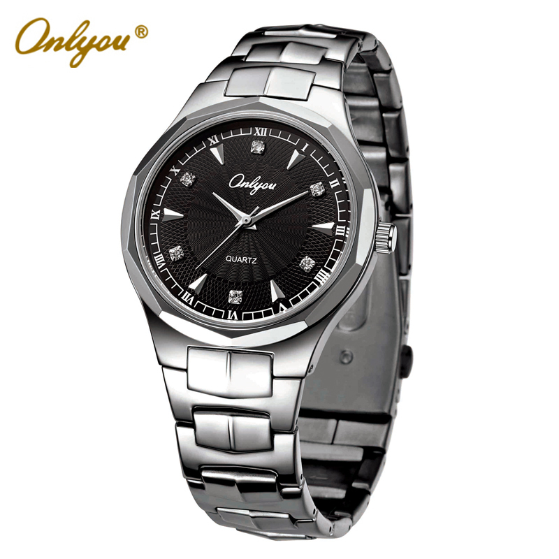 Onlyou Brand Luxury Quartz Wrist Watch For Women Men Dress Watches 2016 Stainless Steel Watchband Japan Movement Male Clock 8802 onlyou brand luxury watches womens men quartz watch stainless steel watchband wristwatches fashion ladies dress watch clock 8861