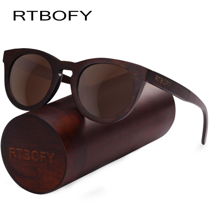 RTBOFY Wood Sunglasses for Men & Women Duwood Frame Eyeglasse Polarized Lenses Glasses Vintage Design Shades UV400 Protection rtbofy wood sunglasses for men and women skateboard wood frame shades oval shape glasses