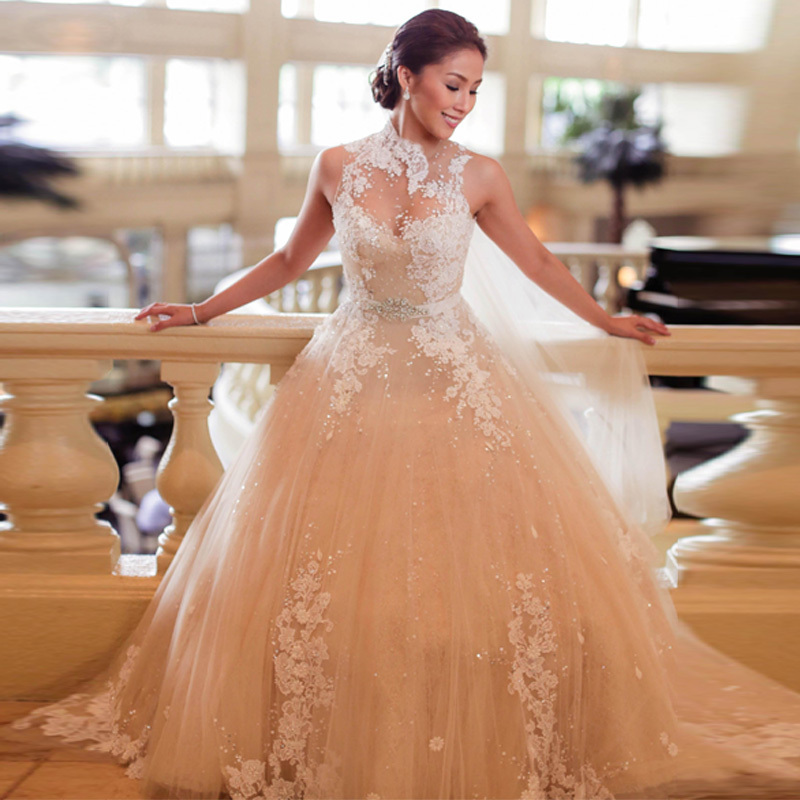 Online buy wholesale the most beautiful wedding gowns from for Pretty ball gown wedding dresses
