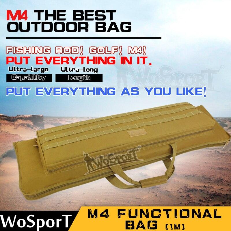WOSPORT Outdoor Military Tactical Hunting Gun Bag War Game Shotgun Rifle Carry Pack Protection Case 100CM M4 Functional Bag protective outdoor war game military tactical full face shield mask black