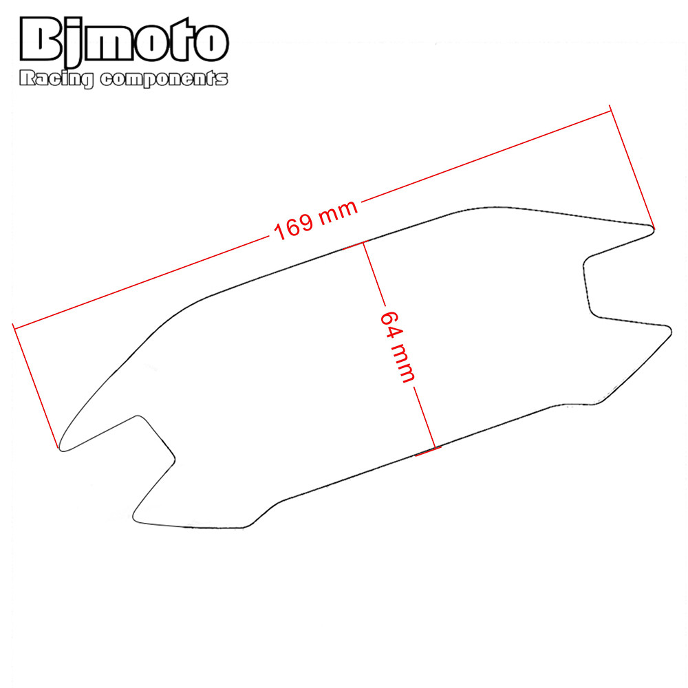Bjmoto for honda cbr500r cbr500f cbr500x 2015 2016 2017 motorcycle motorbike dashboard instrument panel screen protector cover in decals stickers from