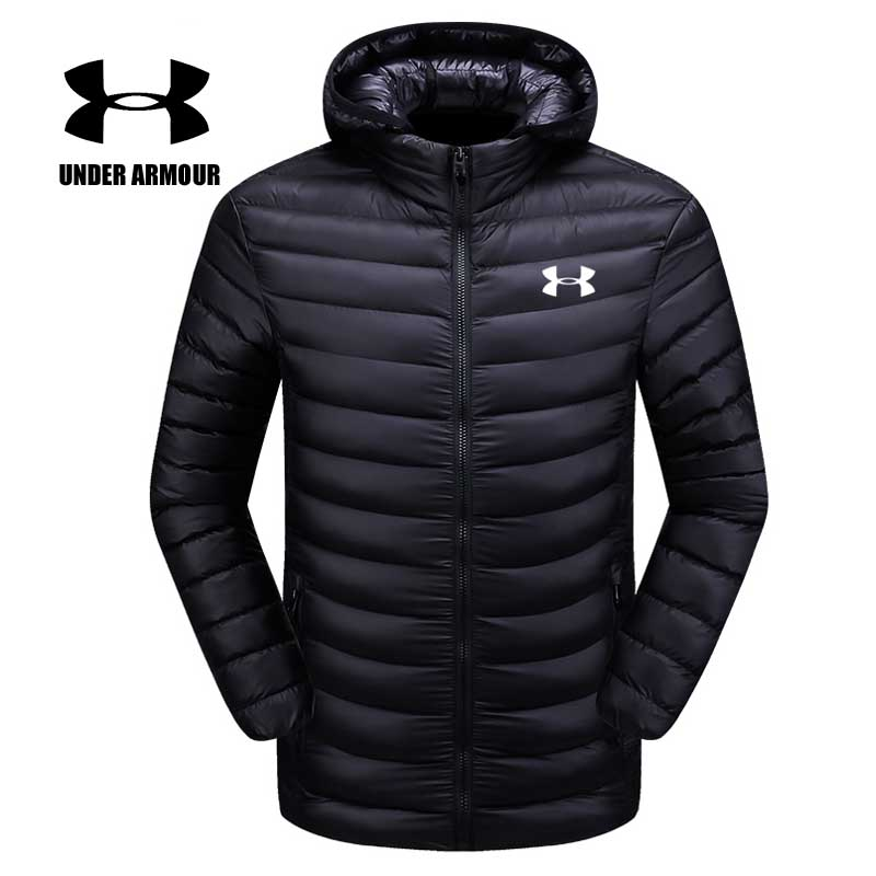 Under Armour Men Winter Cotton Jacket Men running hiking Sports Jackets Silm Fit warm Windproof coat Chaqueta Hombre Asian size цена